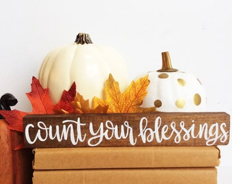 Fall Wood Sign, Fall Decor, Fall Mantle, Blessed, Thanksgiving Decor, Hand Painted Wood Sign, Fall Sign, Rustic Fall Decor, Rustic Sign,