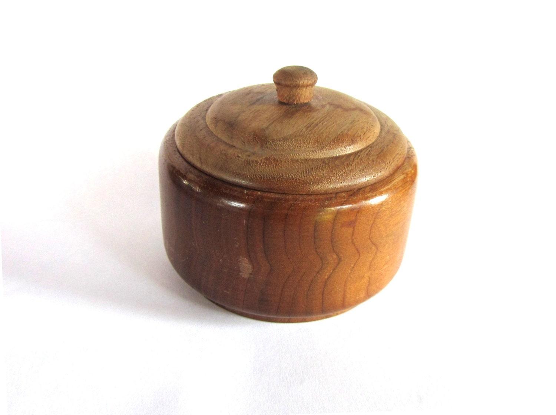 Vintage wooden box wood box vintage round box small trinket for Circular wooden box
