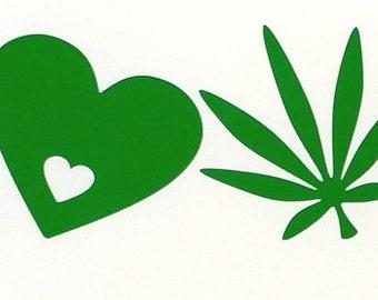 Weed Sticker. LOVE Cannabis Sticker