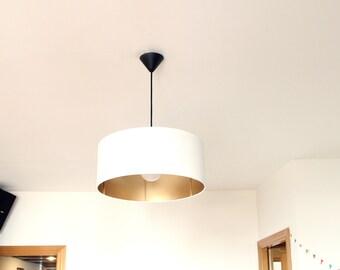 Pendant XXL Lamp 45 x 20 cm White & Gold Collection