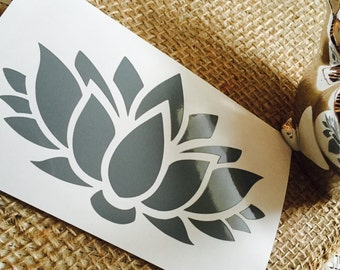 Lotus Flower Decal | Yeti Decal | Car Decal | Girly Decal