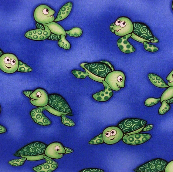 Sea turtle fabric cute baby sea turtle fabric five 6 for Cute baby fabric