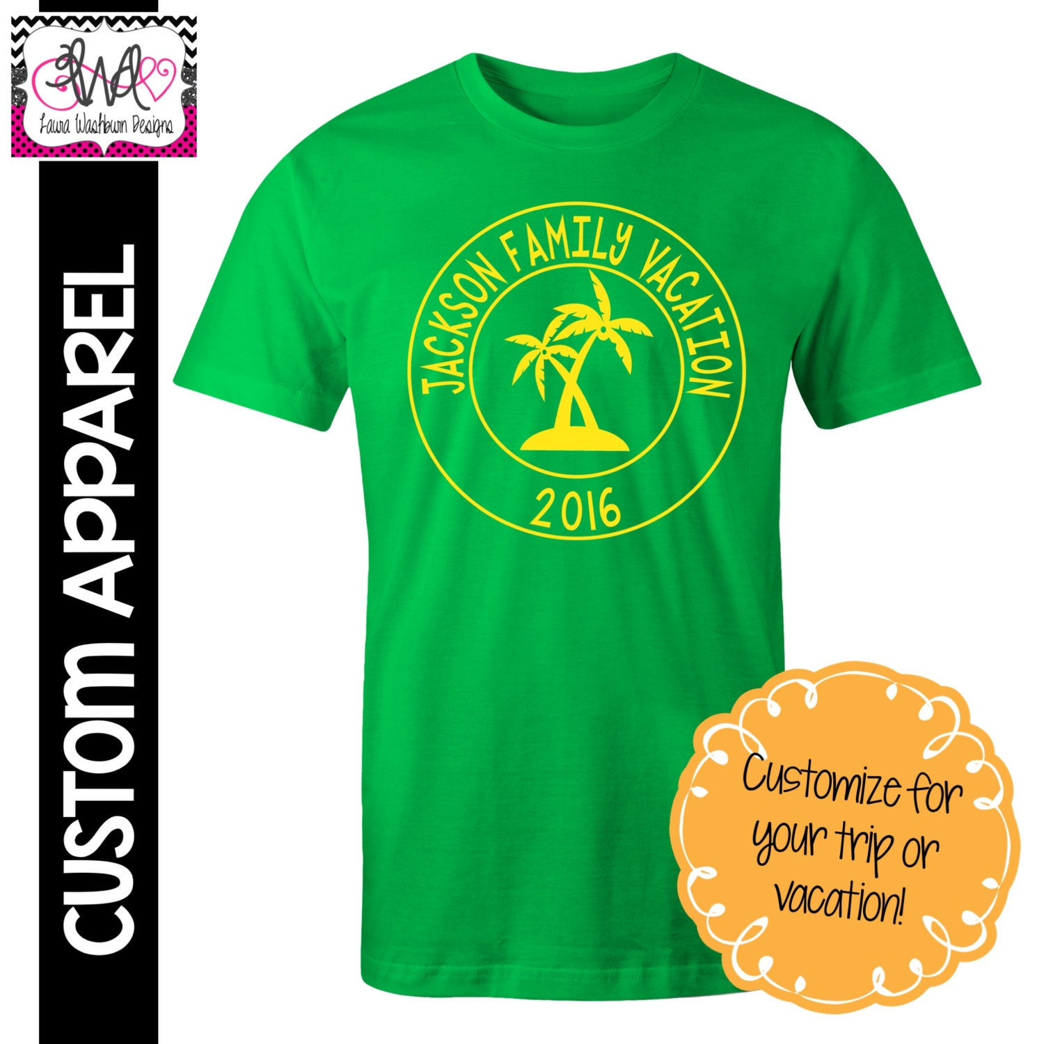 Custom apparel custom vacation t shirt family vacation for Custom t shirts family vacation