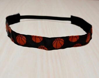 Non-Slip Headband - Basketball, Black