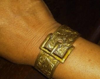 Brass Buckle Bracelet