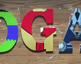 Avengers Wooden Letters