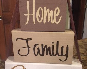 Home Family Blessing Blocks
