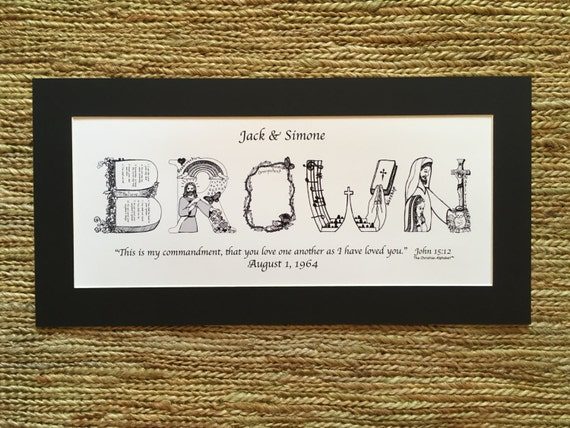 Unique Religious Wedding Gifts : Wedding GiftsPersonalized Anniversary Gifts; Personalized Christian ...