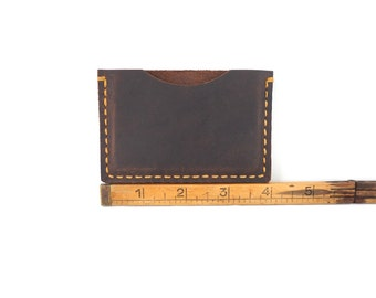 handmade leather card holder, card wallet, card case,