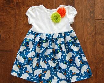 Dolphins! Girls dolphin dress**Sea World dress**Aquarium dress**Spring summer underwater dress**Toddler girls dress**Fish, whale, ocean