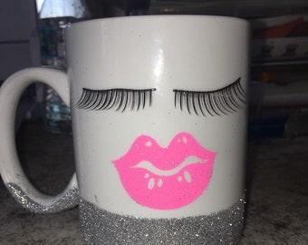 Lash and lips coffee mug