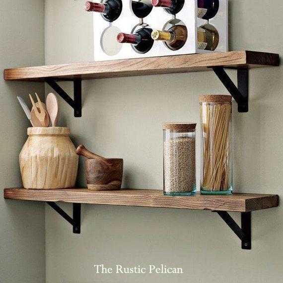 Timber Kitchen Shelves: Rustic Wooden Shelf Rustic Display Shelf Reclaimed Wood