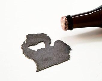 July 4th  Michigan Steel Bottle Opener - Travel Souvenir, Groomsmen Gift, Wedding Favor, Christmas Gift
