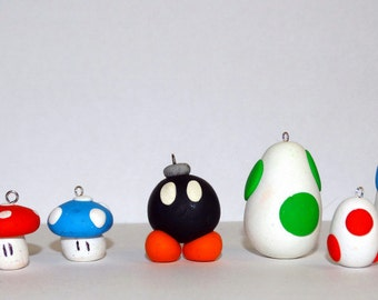 Super Mario Polymer Charms