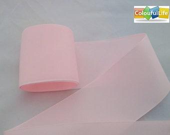 Free shipping promotion, 4 yards, , 3'', 75mm, Grosgrain  Ribbon, Pink, Powder Pink