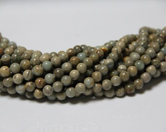 "Impression Jasper 8mm smooth round beads 16"" length full strand"