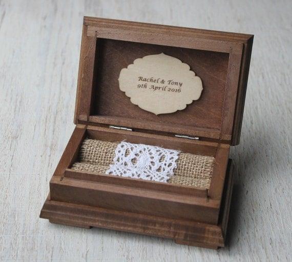 Wedding Ring Box. Ring Bearer Pillow. Ring Pillow Alternative