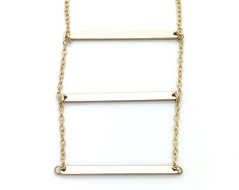 Golden Ladder,Bar Necklace,Chain Necklace,Gold,Trending,Gift for Her