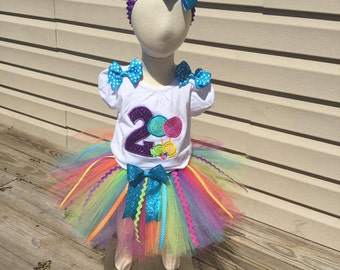 Girls birthday tutu outfit, candy themed birthday, sweets birthday shirt, candy birthday shirt