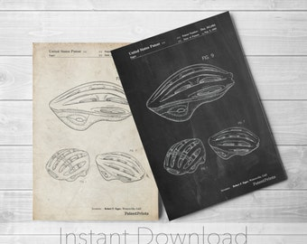 Bicycle Helmet Printables, Cycling Art, Cycling Gift, Bike Art, PP0610