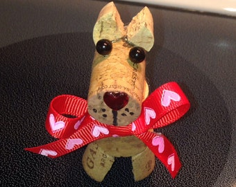 Dog Cork, Valentines day, Gift, Decor,