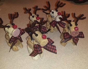 Reindeer, Ornament, Wine cork, Decorative,