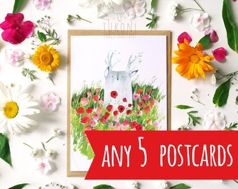 Any 5 post cards