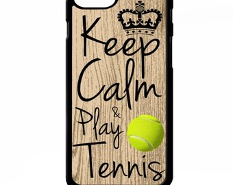 Keep calm and play tennis ball quote phrase sport cover for iphone 4 4s 5 5s 5c 6 6s plus SE phone case