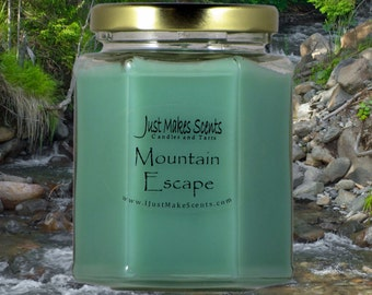 Mountain Escape (Capri Blue Volcano type) Scented Soy Candles - Free Shipping on Mix & Match Orders of 6 or More - Blended Soy Candles