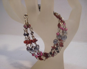 Colorful Crystal Beaded Bracelet