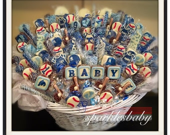 Baby baby shower chocolate basket commack or carle place baby baseball baby shower chocolate basket commack pickup only negle Images