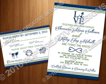 Wedding Invitation and RSVP Set