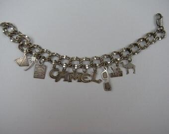 Tobacco Memorabilia CAMEL Cigarettes Silver Charm Bracelet