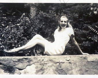 Vintage Photo..Summertime Girl 1946, Original Photo, Old Photo Snapshot, Vernacular Photography, American Social History Photo