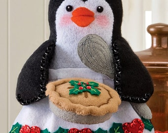 Bucilla Chef Penguin ~ 3D Felt Christmas Home Decor Kit #86334 ~ 2012 Release DIY