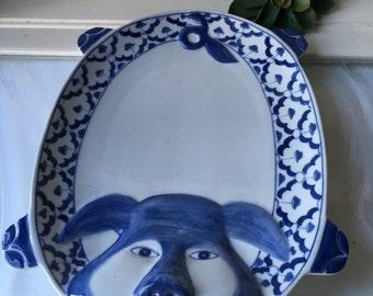 Vintage Ceramic Pig Platter