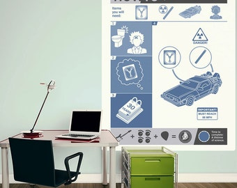 How To DeLorean Back to the Future Wall Decal - #70355