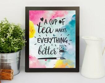 Tea Lovers Print - Printable Art - Instant Download