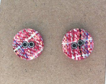Pretty Little Button Earrings