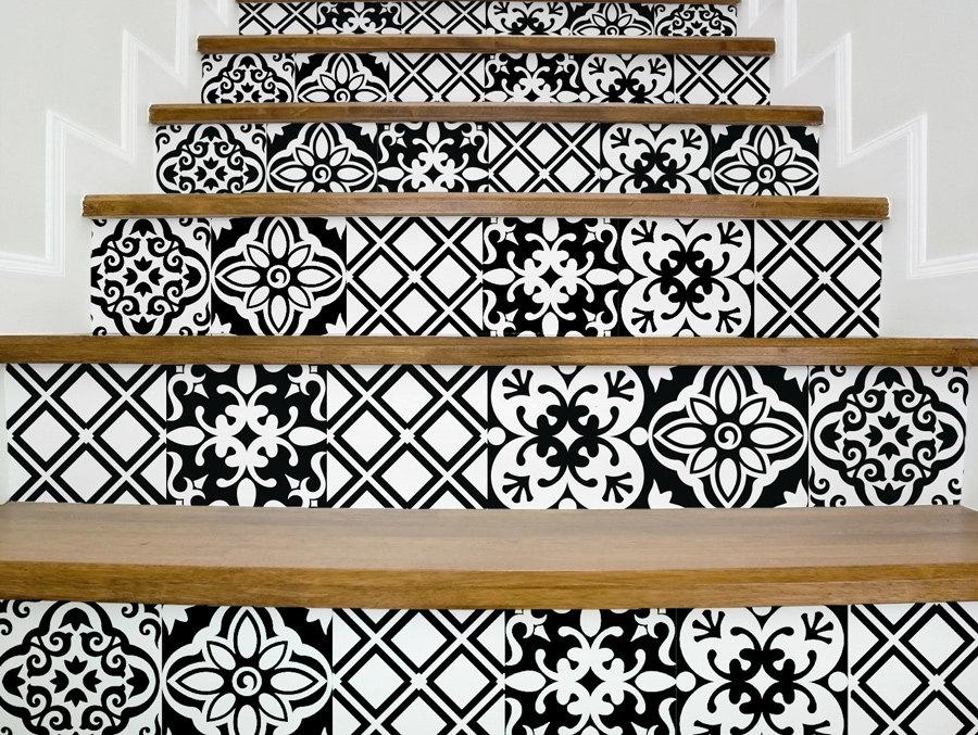 Stickers escalier noir et blanc stickers escalier magnifique - Stickers pour escalier ...
