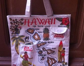 1950s Summer Souvenir Hawaiian Bag