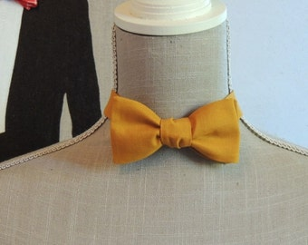Bow tie. Cotton mustard yellow.