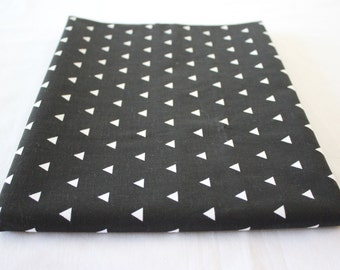 Handmade Black  Triangle Fitted Crib Sheet