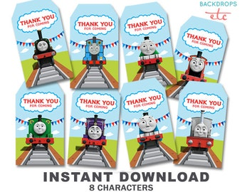 Thomas The Train Printable Thank You Tag // Favor Tag // INSTANT DOWNLOAD