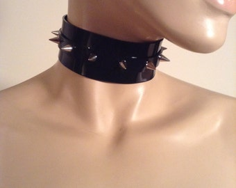 "Vegan Spiked 1.5"" Slave Collar (small/medium)"