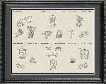 Transformers Autobots Patent Collection Print Gift PABOT2024