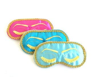 Breakfast at Tiffanys Sleep Mask, Holly Golightly Sleep Mask,  Audrey Hepburn, Bachelorette Party Mask.