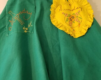 Vintage Embroidered Apron  #51