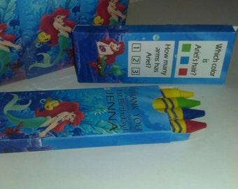 Little Mermaid Crayon Favor ( SKU# LMCB01 )