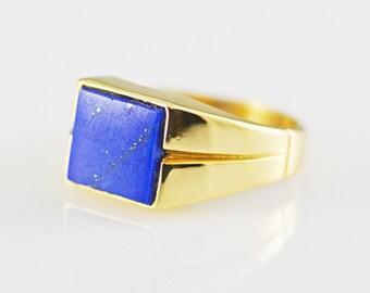 Lapis Lazuli 14k Gold Ring